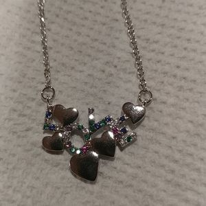 New crystal love necklace